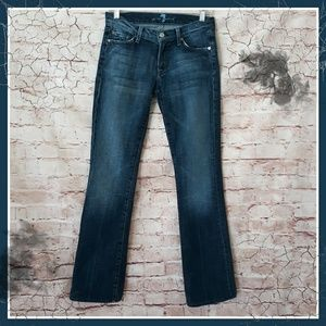 7FAMK Bootcut Denim Mid Rise Blue Jeans Sz 27